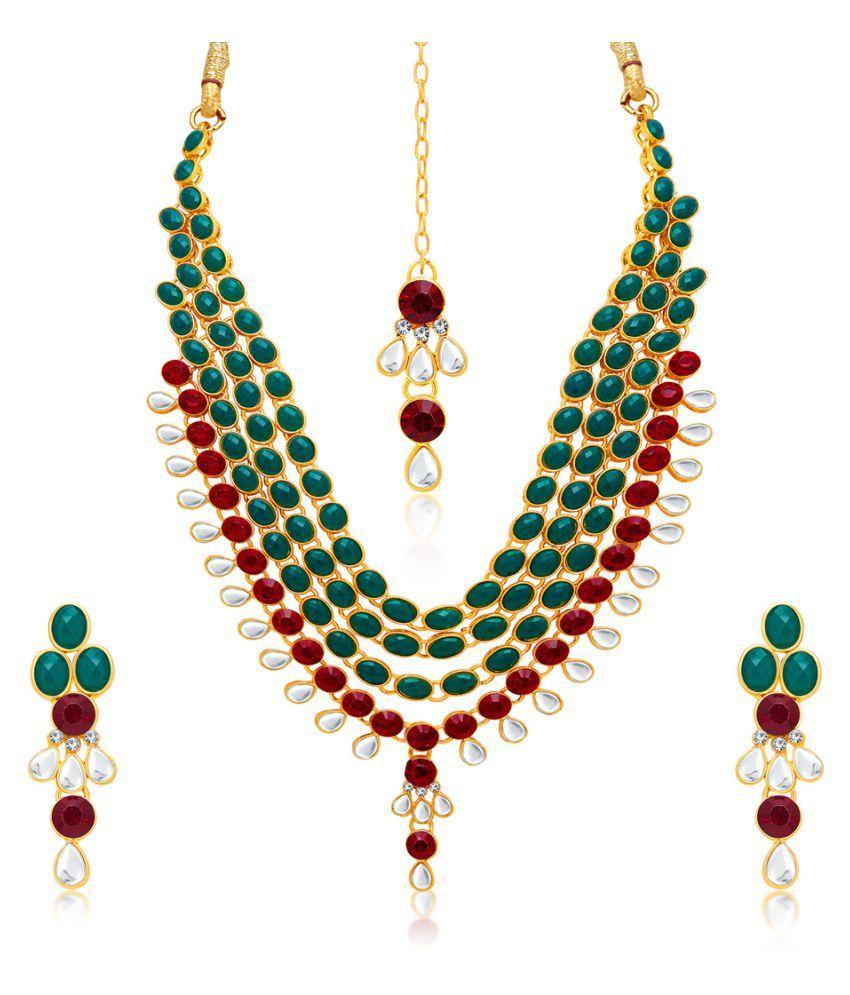 Sukkhi Multicolour Alloy Necklace Set for Women
