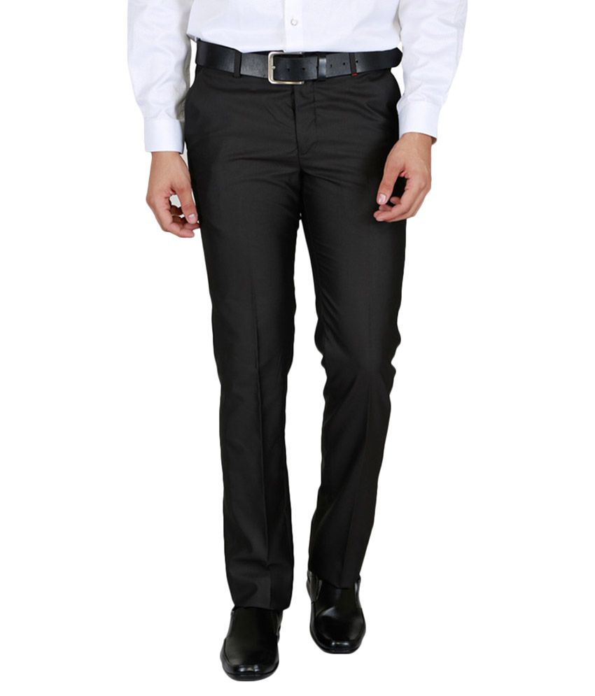 Lawman Pg3 Black Regular Flat Trouser