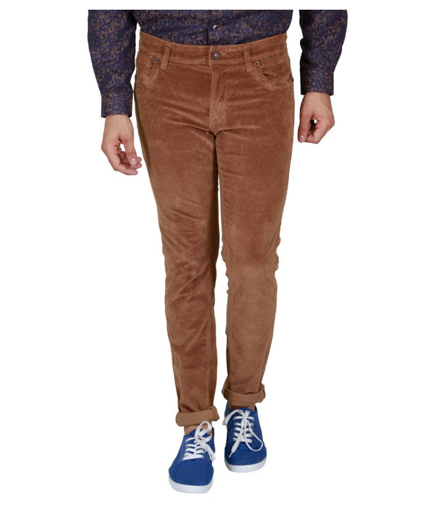 Lawman Pg3 Brown Slim Flat Trouser