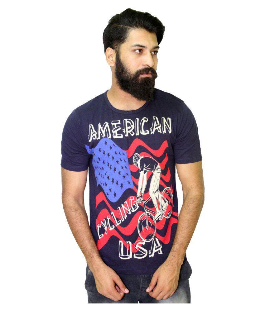 Starsy Navy Round T-Shirt
