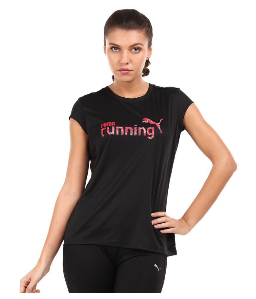 Puma Womens Solid Round Neck T-shirt
