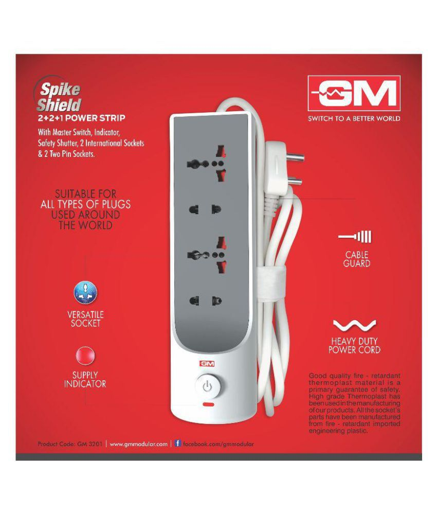 buy gm upto extension board online at low price in snapdeal gm upto 4 extension board