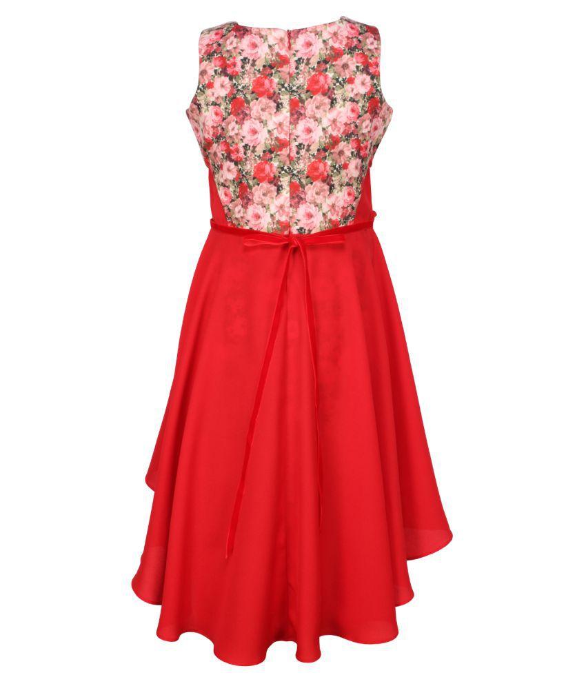 b893b3bd90d Cutecumber Red Dress for Girls - Buy Cutecumber Red Dress for Girls ...