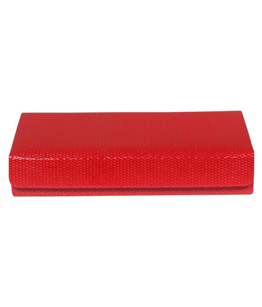 Leather World Red Jewellery Box