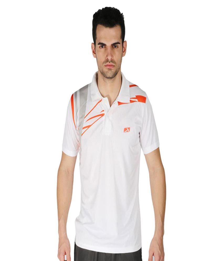 Vector X White Polyster Polo T-Shirt