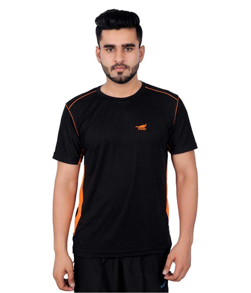 NNN Black Half Sleeves Dry Fit Men's T-shirt