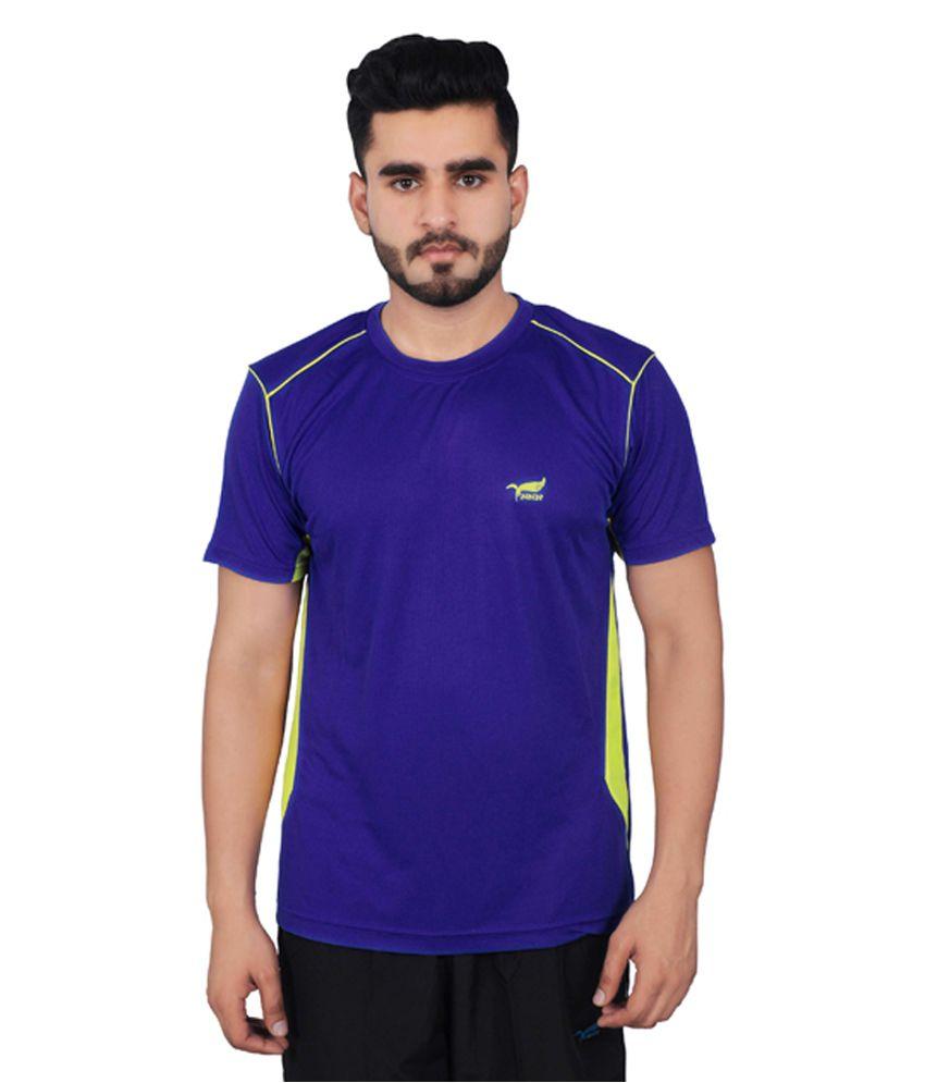 NNN Royal Blue Half Sleeves Dry Fit Men's T-shirt