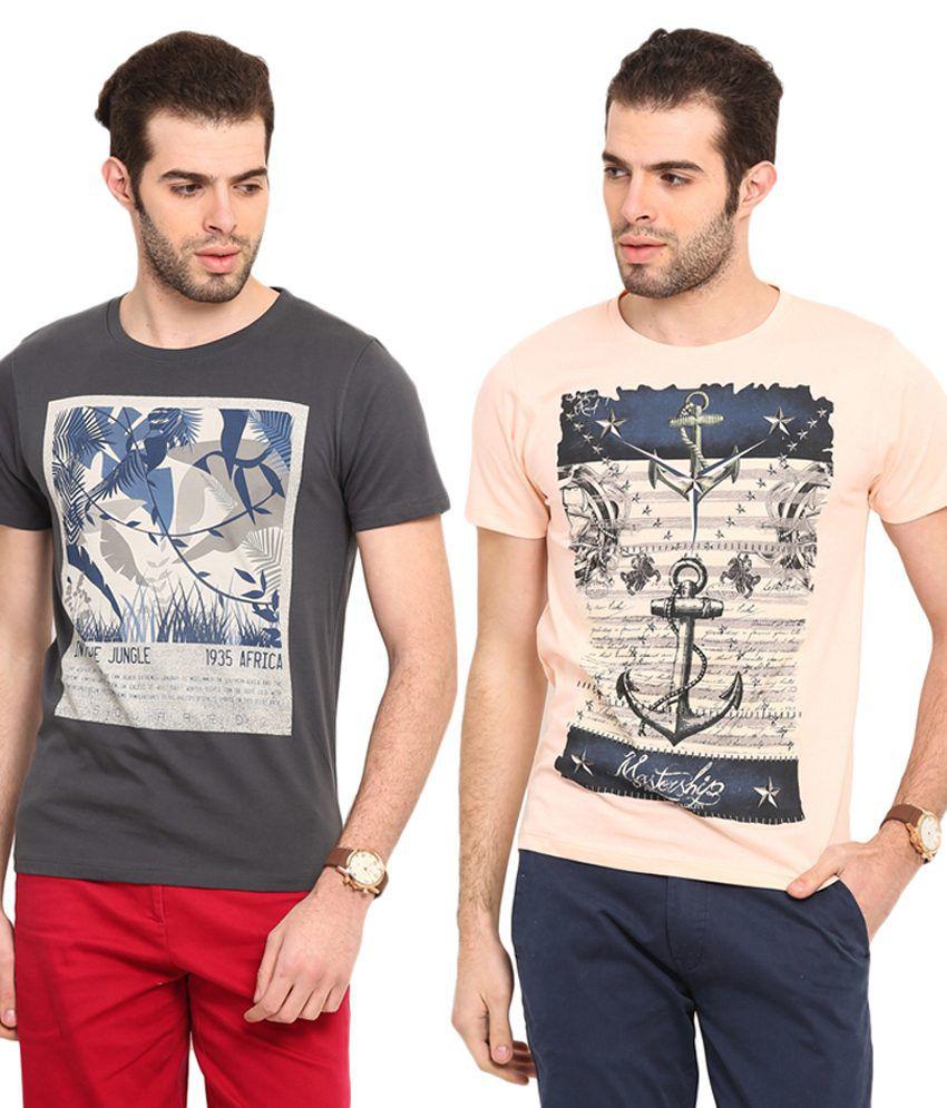 Mode Vetements Multi Round T-Shirt Pack of 2
