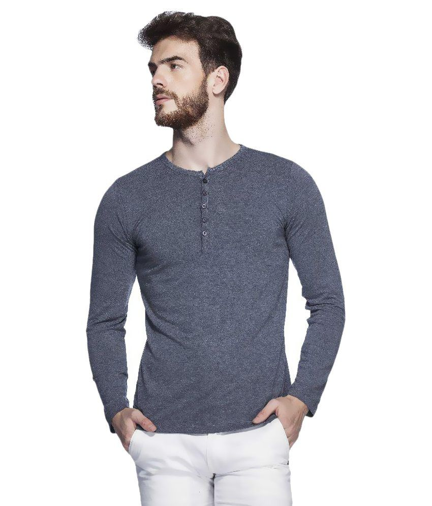 Tinted Grey Henley T-Shirt