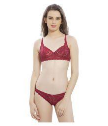 Lady Love Red Lace Plunge Bra - 653451495162