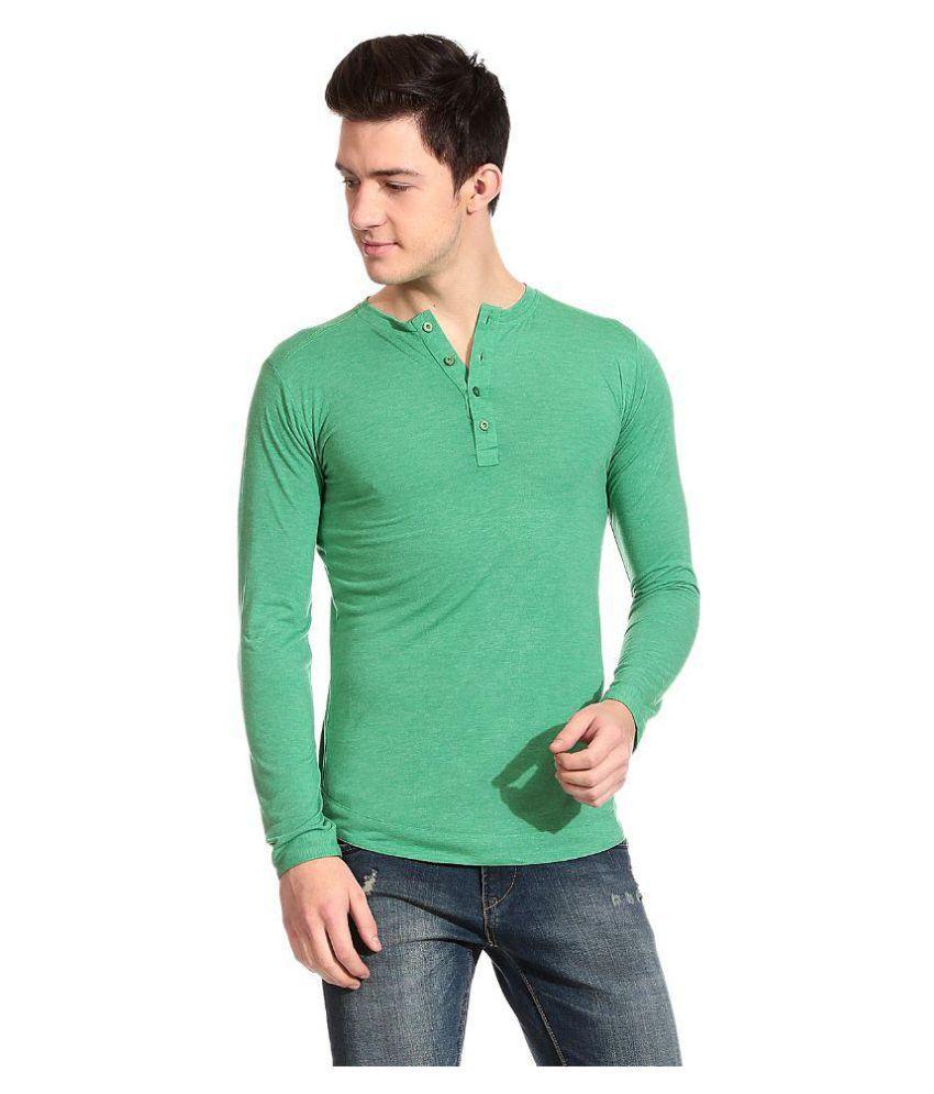 Tinted Green Henley T-Shirt