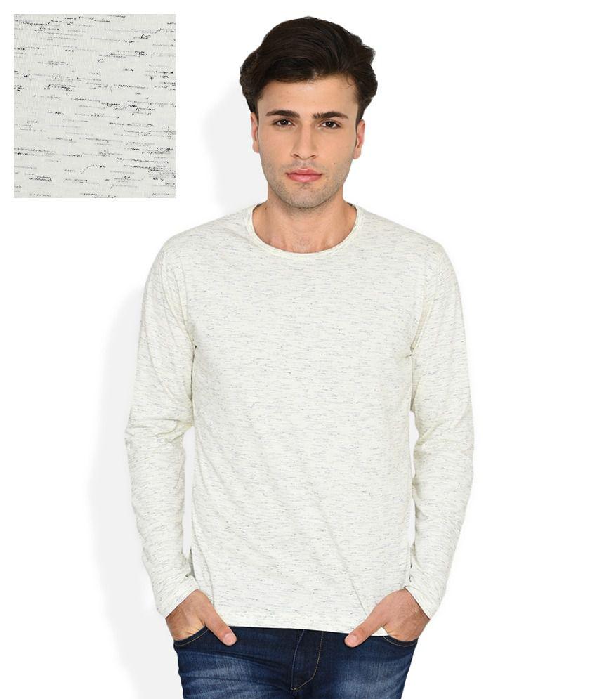 John Players White Slim Fit T-Shirt