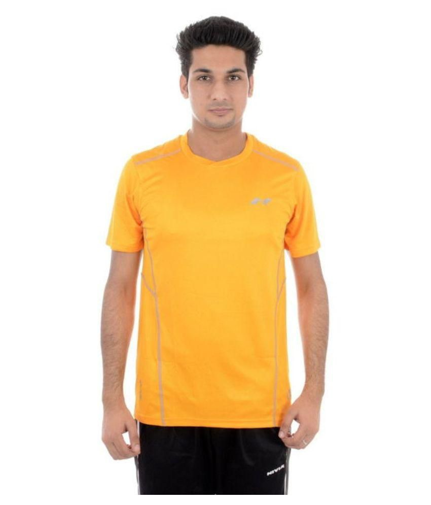 Nivia Yellow Round T-Shirt