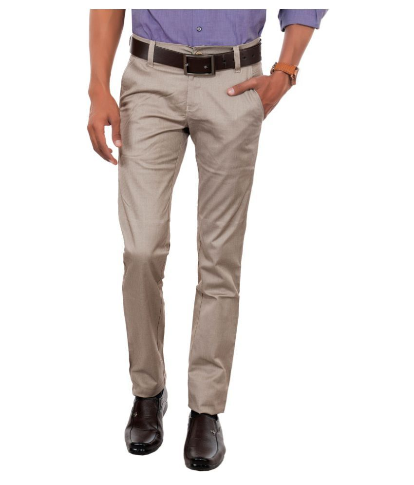 Killox Beige Regular Flat Trouser