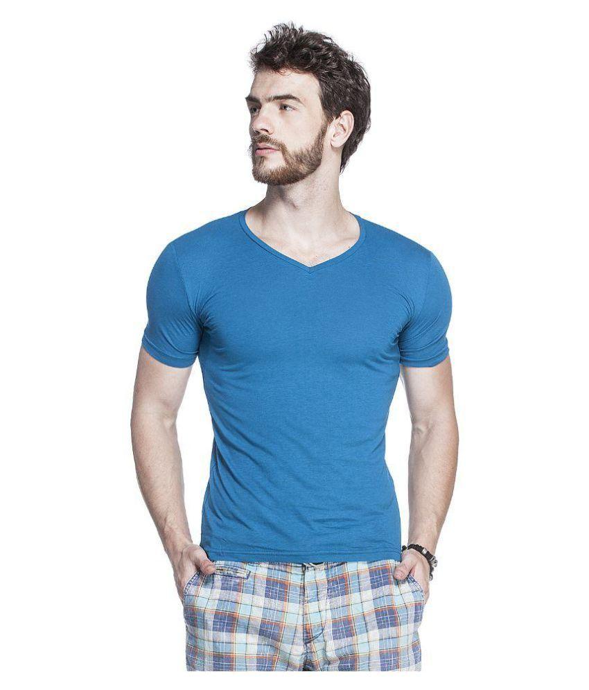 Tinted Blue V-Neck T-Shirt