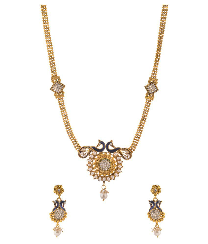 Awww Golden Alloy Necklace Set for Women