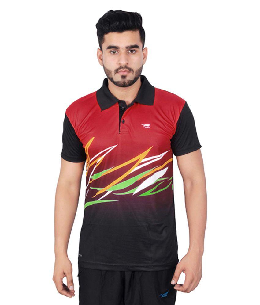 NNN Red Half Sleeves Dry Fit Men's T-shirt