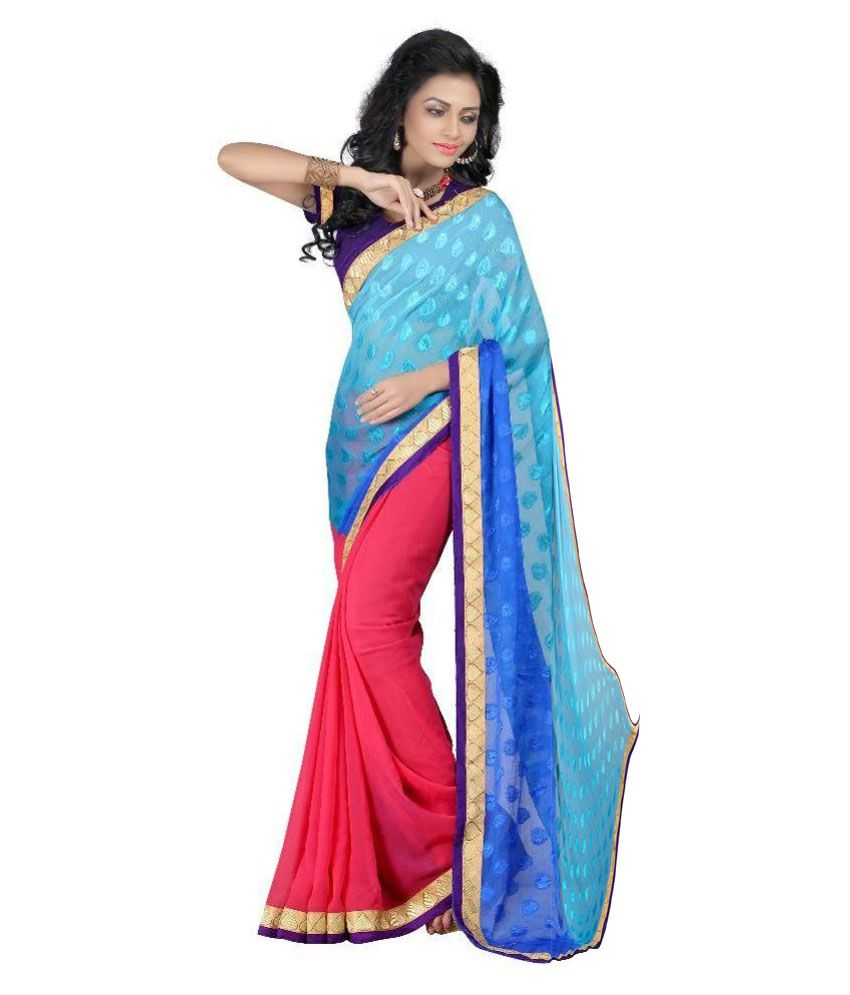 1c75ad3560a Luga Multicoloured Viscose Saree available at SnapDeal for Rs.727