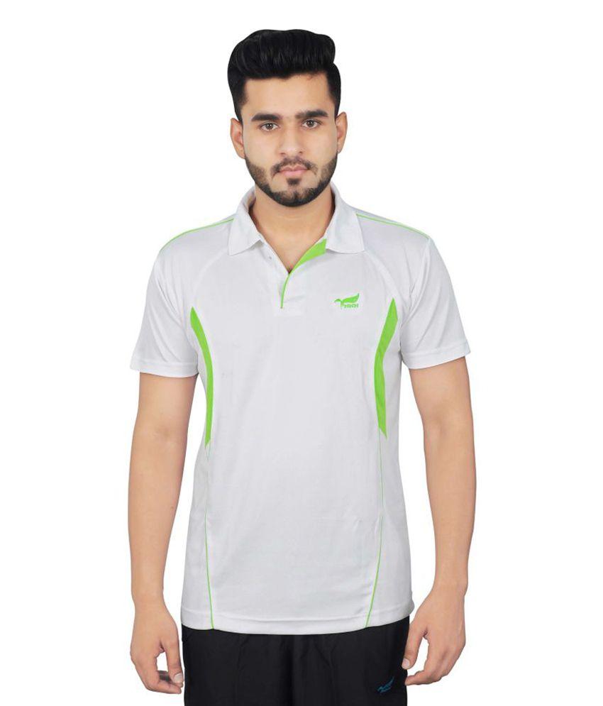 NNN White Half Sleeves Dry Fit Men's T-shirt