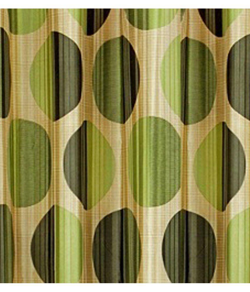 ... Cortina Punto Green Curtain 7 Feet Contemporary Green ...