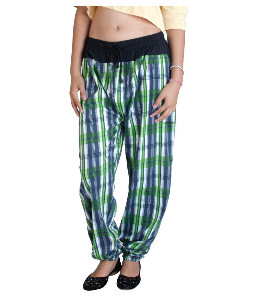 FabPoppy Green Cotton Pajamas