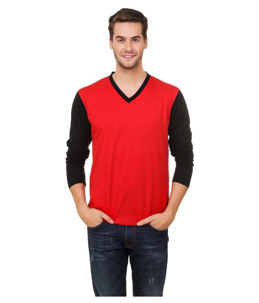 Hue Zephyr Red V-Neck T-Shirt
