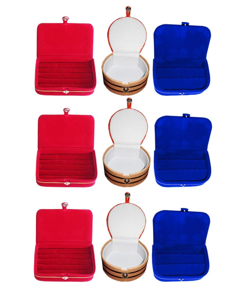 ABHINIDI Multicolour Jewellery Boxes - Pack of 9