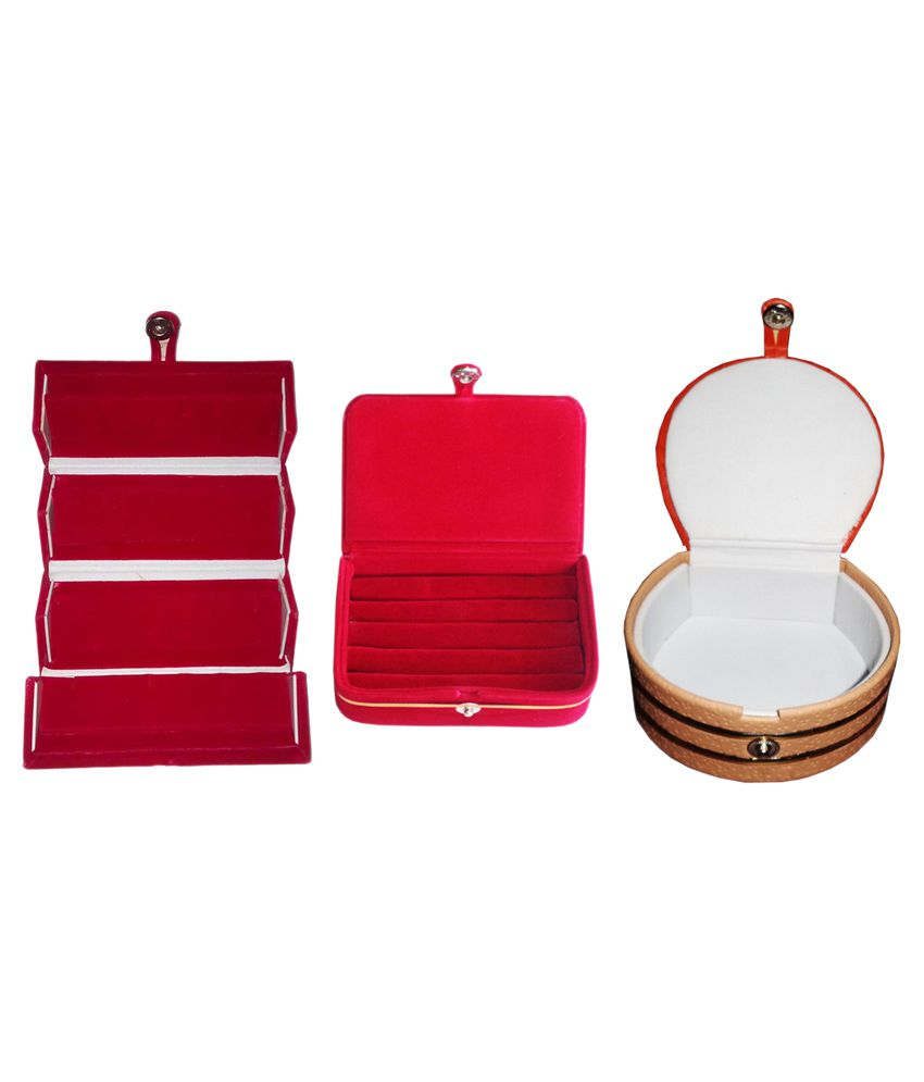 Abhinidi Combo Of 1 Ring Boxes, 1 Earring Boxes and 1 Bangle Boxes