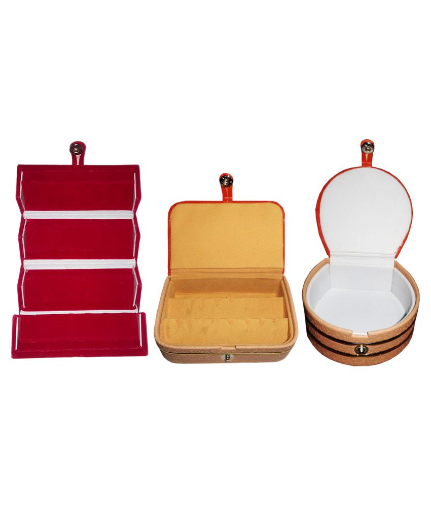 Abhinidi Combo Of 1 Ring Box, 1 Bangle Box and 1 Earring Box