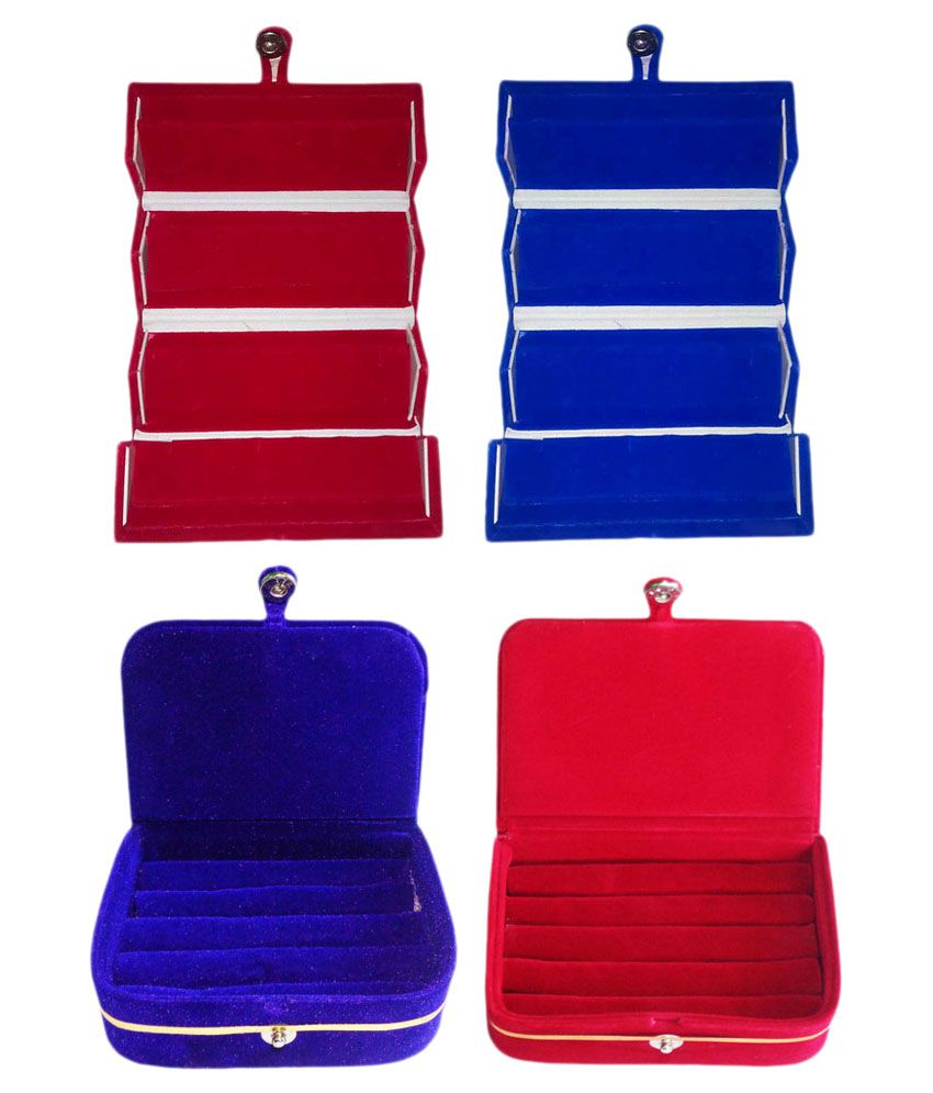 Abhinidi Multicolour 2 Earring Box with 2 Ring Box
