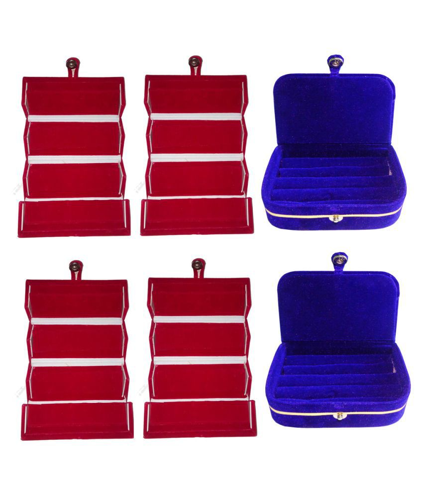 Abhinidi Multicolour 4 Earring Box with 2 Ring Box
