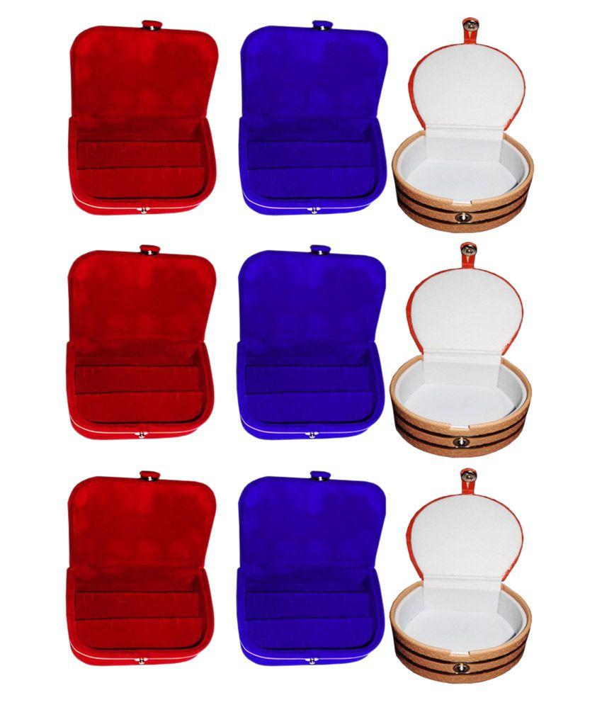 Abhinidi Multicolour Wooden Jewellery Box - Set of 9