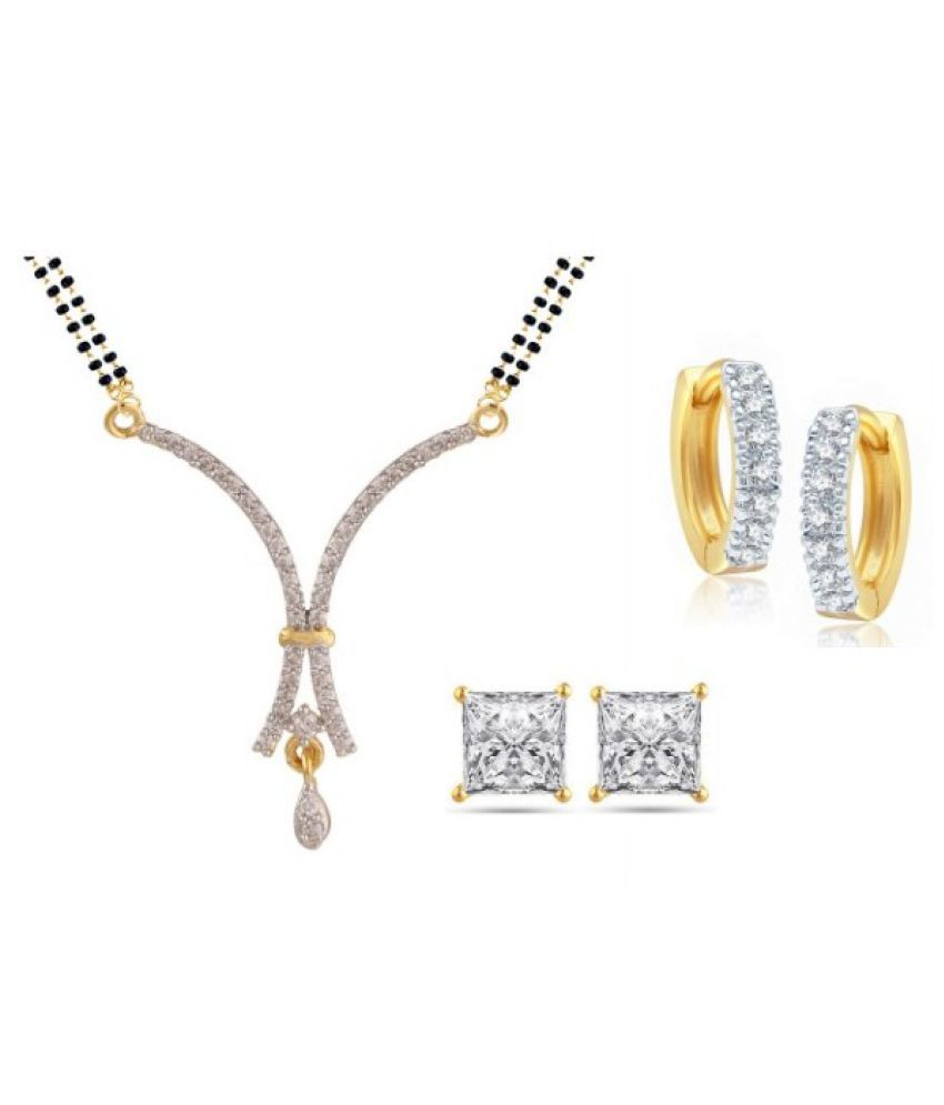 Efulgenz Multicolor Mangalsutra Set with Earrings