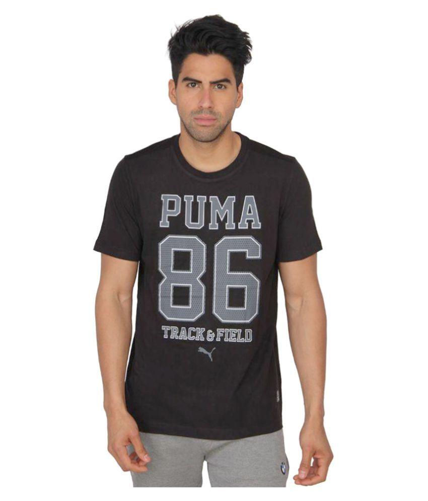 Puma Black Printed T-shirt