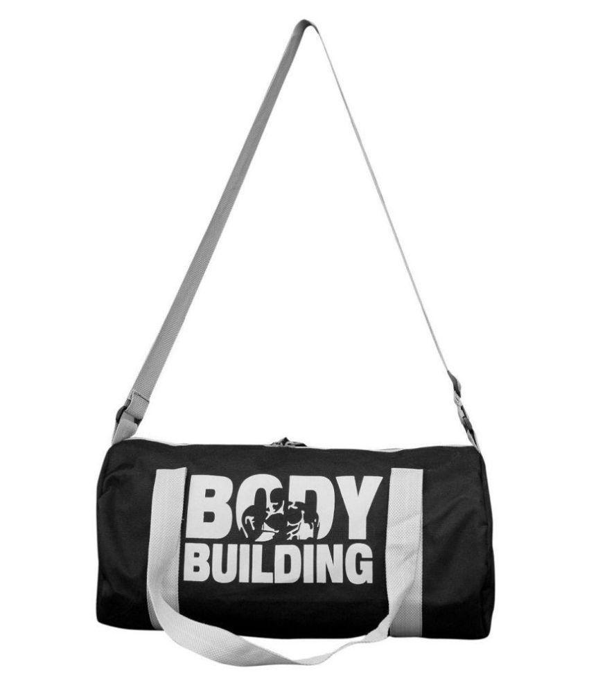 Frazzer Black Medium Polyester Gym Bag
