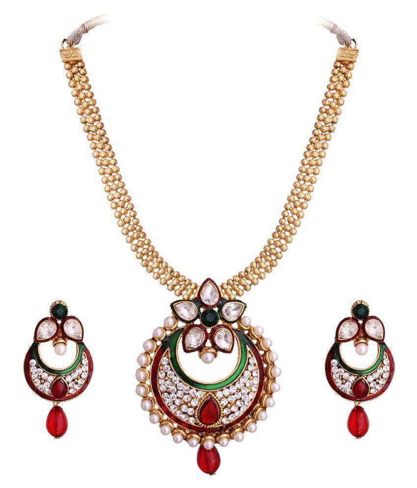 Vendee Fashion Multicolour Brass Necklaces Set