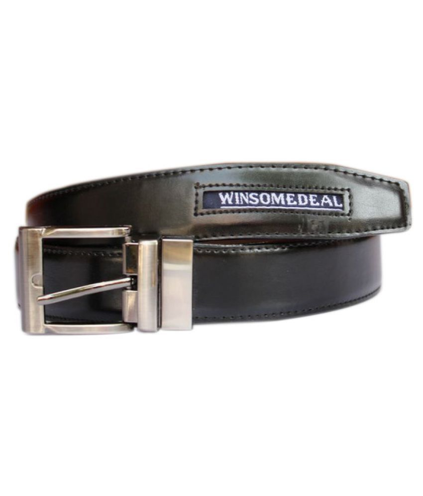 Bacchus Black PU Formal Belts