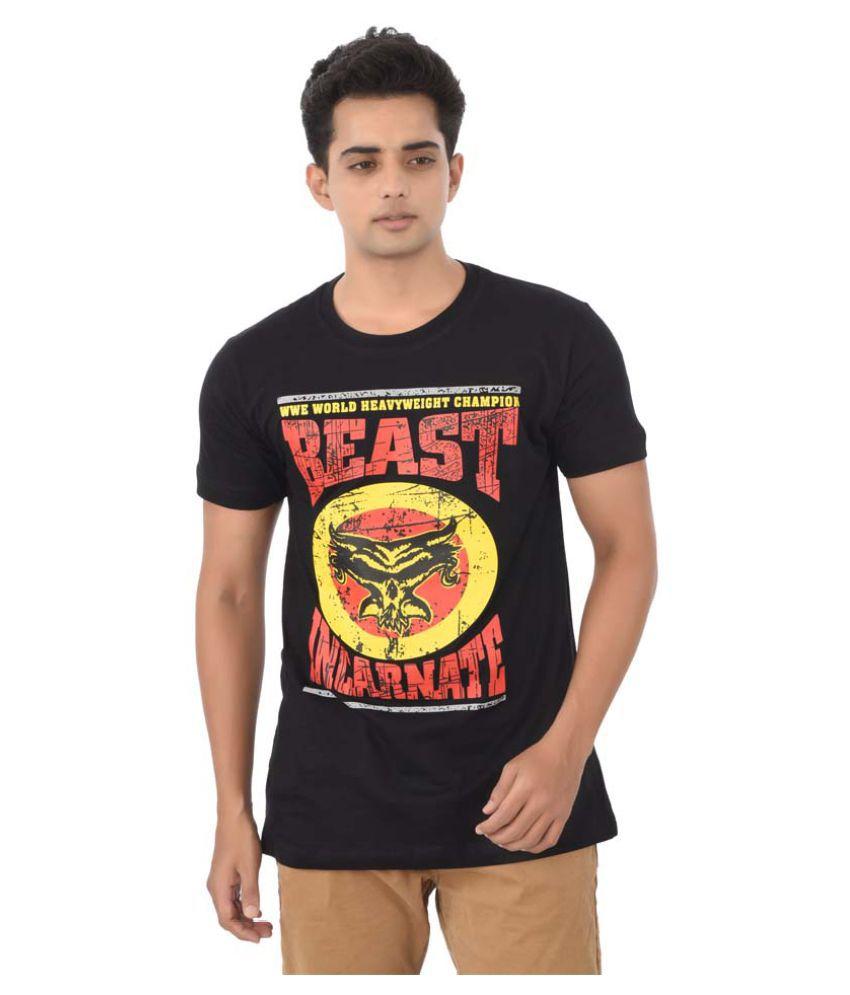 ILYK WWE Black Round T-Shirt