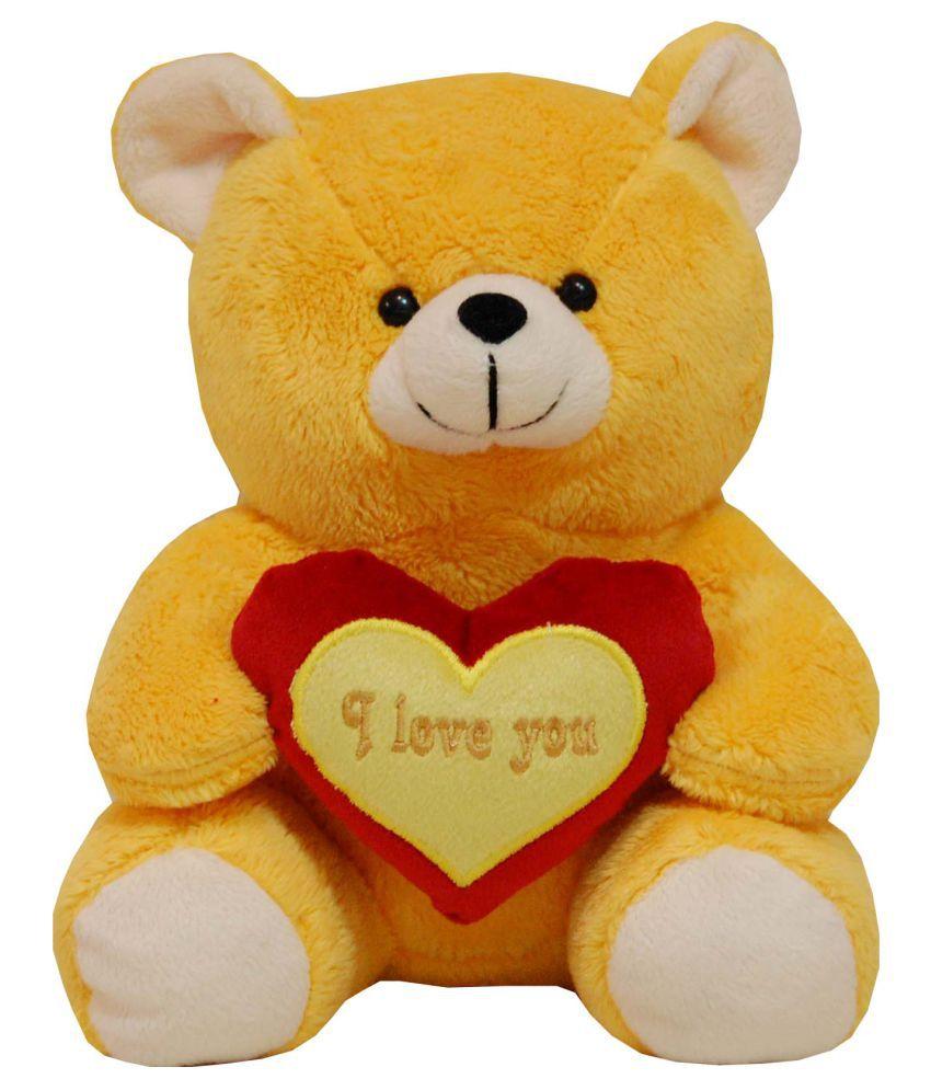 Surbhi Yellow Teddy Bear Stuffed Love Soft Toy For Boyfriend