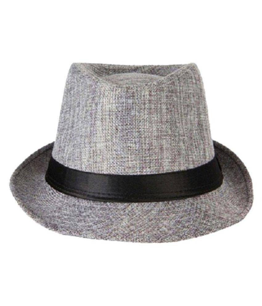 The Beach Company Gray Plain Polyester Hats