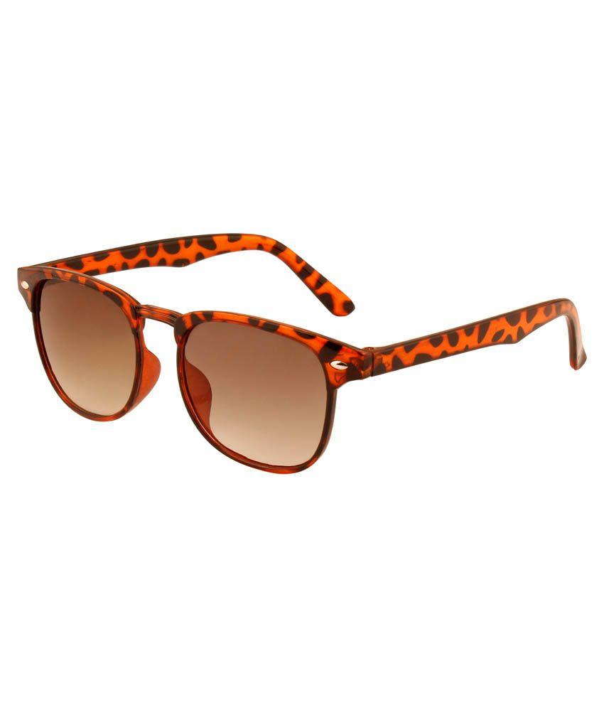 Skull Brown Wayfarer Sunglasses ( k104 )