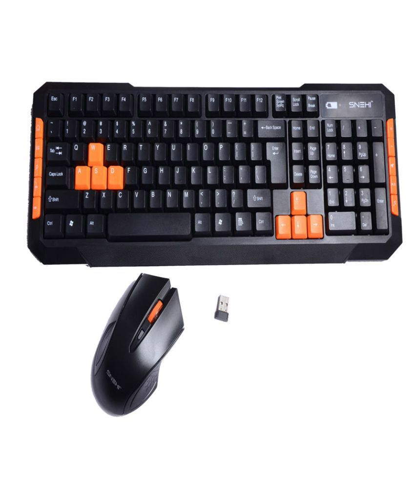 Snehi ws2000 Black Wireless Keyboard Mouse Combo Keyboard