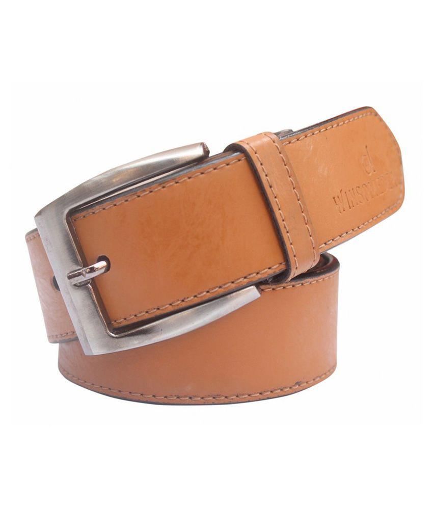 Winsome Deal Tan PU Formal Belts