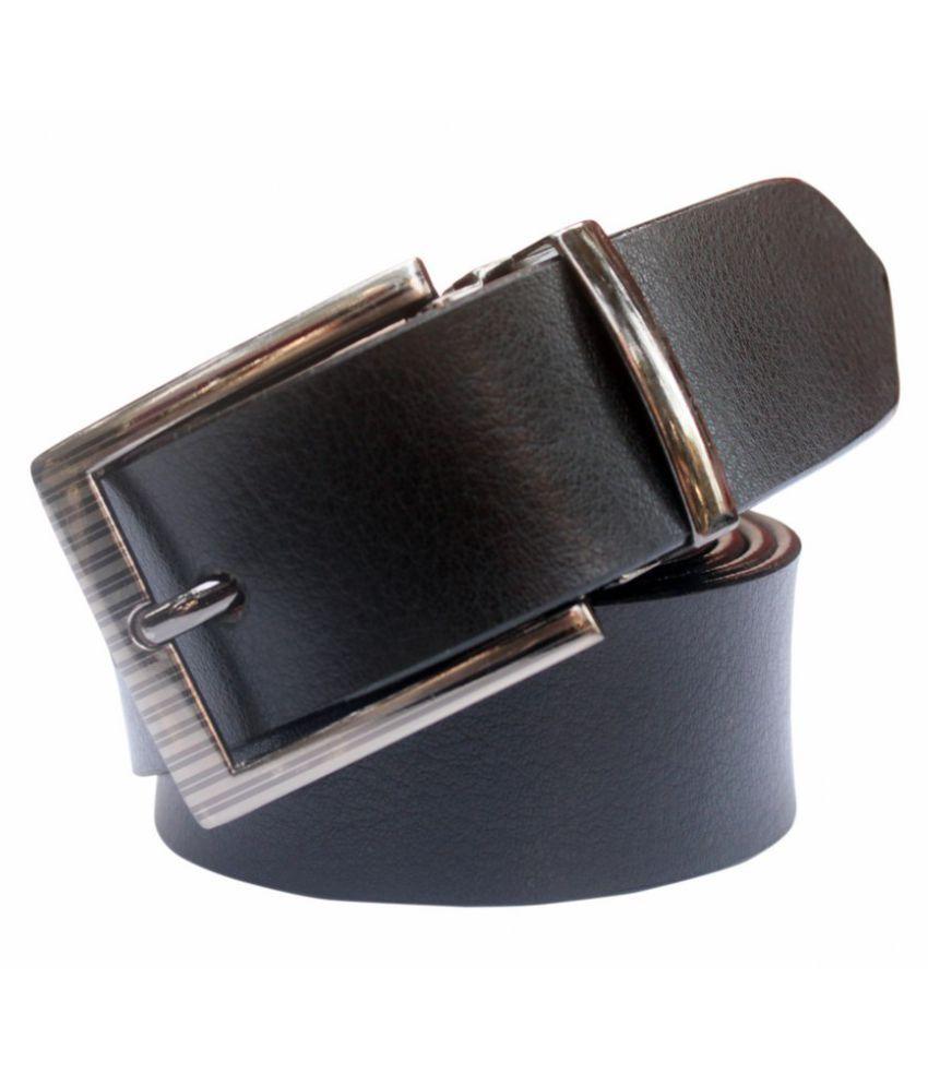 Bacchus Black Leather Formal Belts
