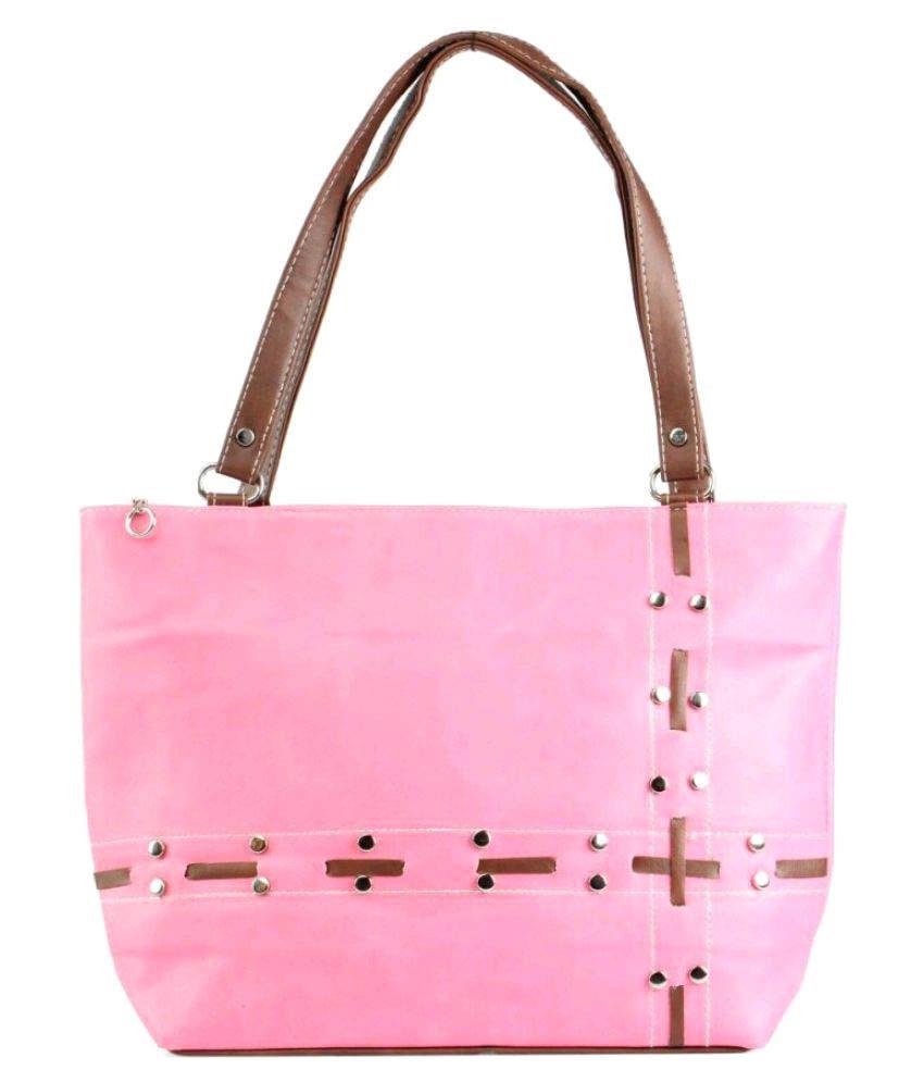 CG Pink Canvas Shoulder Bag