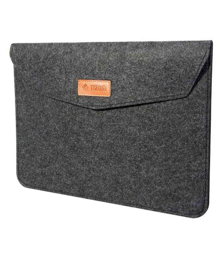 Tizum Premium 14-Inch Felt Laptop Sleeve (Slate Grey)