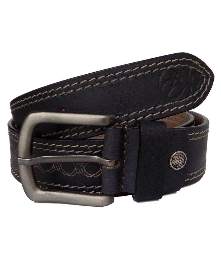 Czar Enterprises Black Leather Casual Belts
