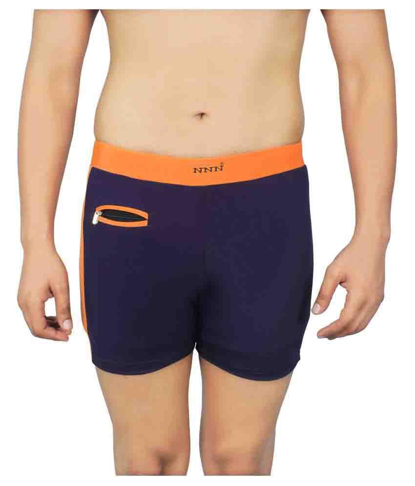 NNN Men's Navy Blue Lycra Swimming Trunk/ Swimming Costume