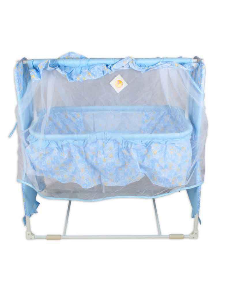 Baybee Sleep-Well Bassinet Cradle Blue