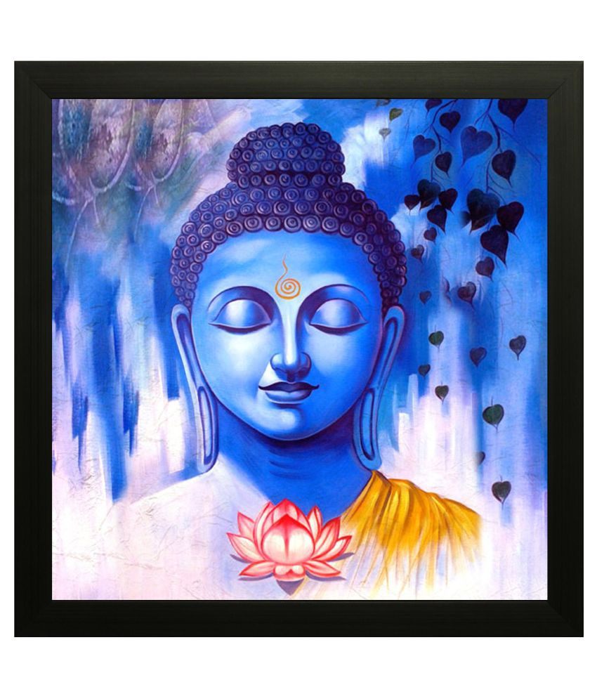 SAF Buddha Wood Art Prints With Frame Single Piece